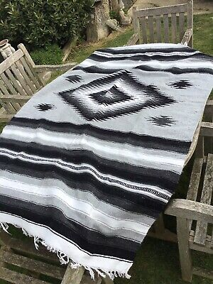£120 • Buy Vintage Thick Wool Rug Throw Mexican Aztec