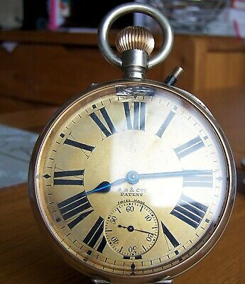 AU1252.48 • Buy C1900 Antique Vintage Omega Rare Gold Dial Goliath 8 Day Pocket Watch For Repair