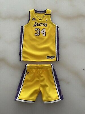 $120 • Buy 1/6 Lakers Shaquille O'Neal SHAQ 2000 Finals Embroidered Jersey For ENTERBAY