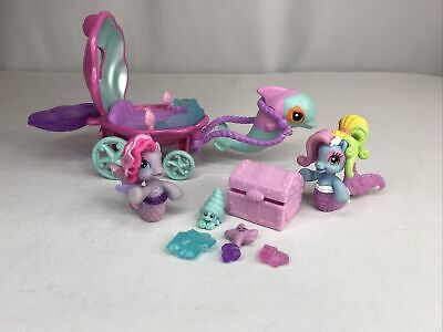 My Little Pony Ponyville Mermaid Dolphin Carriage, Ponies + Treasure Chest Lot • 16.96£