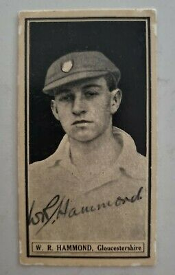 AU369 • Buy Wally Hammond Very Rare Signed Worlds Best Cricketers Card Walter Cricket Ashes