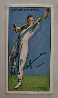 AU148 • Buy Percy Chapman Very Rare Signed World Cricketers Card England Cricket