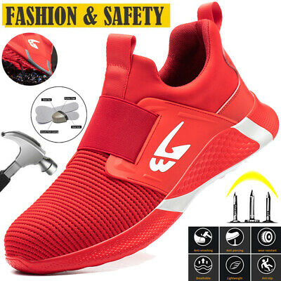£20.80 • Buy Womens Lightweight Steel Toe Cap Safety Trainers Boot Shoes Hiking Shoes [3.5-8]