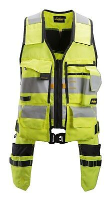 £89.98 • Buy Snickers 4230 AllroundWork Yellow High-Vis Tool Vest CL1 BNWT Free Delivery