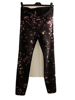 £18 • Buy Gap Fit Leggings M 12 14 Black Planet Pattern Compression Support High Printed