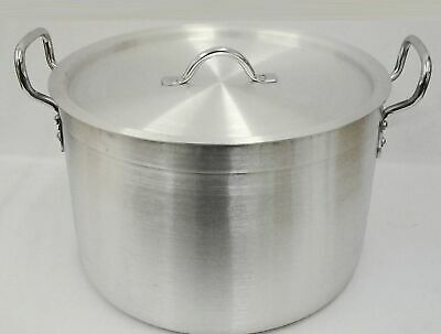 £144.59 • Buy New Heavy Duty Casserole Aluminium Cooking Pot Pan Lid Catering - Ground Base