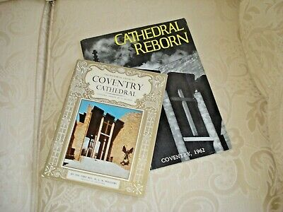 Coventry CATHEDRAL REBORN Souvenir Booklet & Coventry Cathedral Guide 1964 • 4.99£