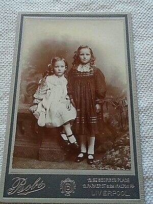 Victorian Cabinet Photo  2 Children Girls • 4£