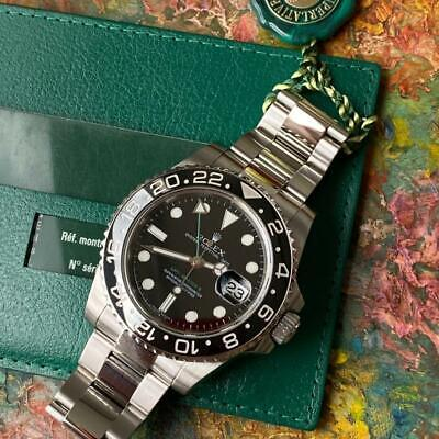 AU13007.92 • Buy Rolex Gmt-master Ii Ref. 116710ln Watch 100% Genuine Ceramic M Serial Papers