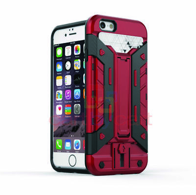 AU3.99 • Buy Shockproof Heavy Duty Red Maroon Case Cover For Apple IPhone 6S IPhone 6 NEW AU