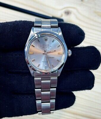AU2453.89 • Buy Rolex Datejust Air King Referenza 5500 Anno 1965  Con Movimento Eta