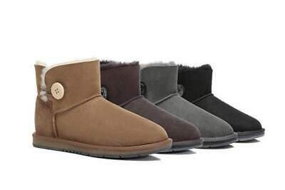 AU59 • Buy UGG Boots Women Men Mini Button Ankle Boots Australian Sheepskin Water Resistant