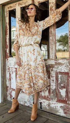 AU157.50 • Buy Spell & The Gypsy Collective Hendrix Boho Dress Cream Large