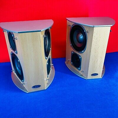 AU125.60 • Buy Eltax CineMaxx Rear Bipolar Speakers Model 1418 130W 4-8Ohm Beech Coloured
