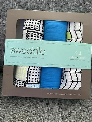 £20 • Buy Baby ADEN + ANAIS 3 Large Muslin Swaddles NEW