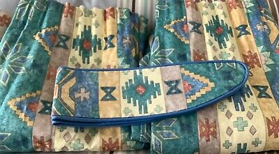 £19.99 • Buy Vintage Montgomery Fabric Curtains Tie Backs Handmade Lined Weighted L51.5 W105