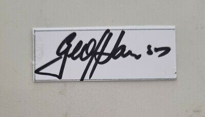AU8 • Buy Geoff Lawson Cricket Signed In Person  Neat Card England Ashes Australia