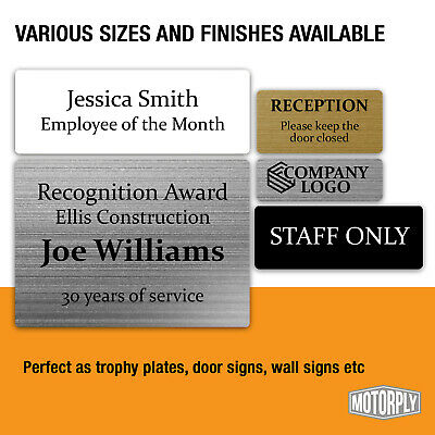 £5.99 • Buy Metal Door Sign - Personalised Trophy Plates (Various Sizes) Office Name Plaque