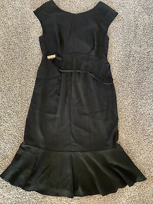 Womens Seraphine Black Belted Work Dress Size 2  • 4.32£