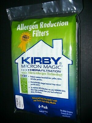 Kirby Vacuum Micron Magic Filter Bags 6 Pack Universal F Style Twist Models HEPA • 12.72£