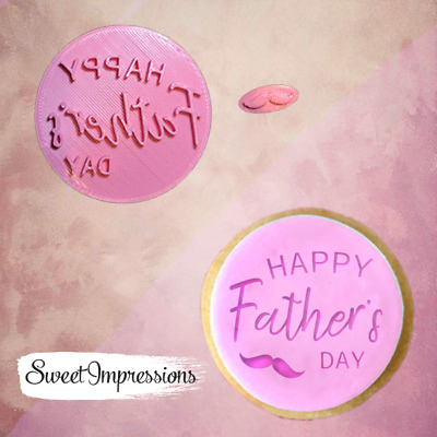 £5.49 • Buy Happy Father's Day Embosser Stamp, Cookie Cutter, Fondant Cupcake, Baking