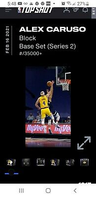 $59 • Buy Alex Caruso Block S2 NBA Top Shot NFT Digital Card Moment #19595/35000