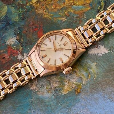 $ CDN2569.55 • Buy Rolex Oyster Perpetual 18kt Rose Gold 6618 Vintage Ladies Watch 100% Genuine