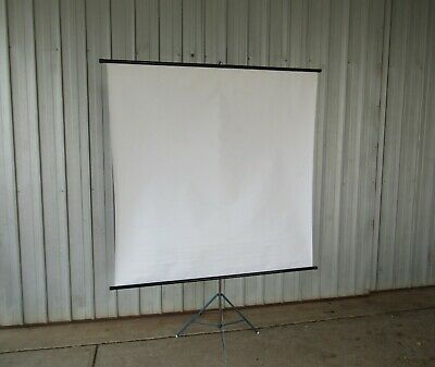 AU85 • Buy Projector Screen With Tripod Stand Roll Up Photo Vintage