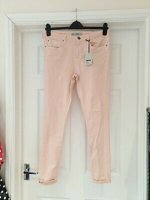£25 • Buy TOPSHOP MOTO LEIGH Jeans NWT Pink Super Soft Ankle Grazer UK Size 14/32R