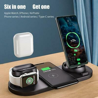 AU32.18 • Buy 6-in-1 Wireless Charger Charging Dock Station For Apple AirPods / IPhone/ Watch