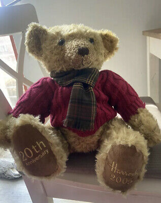 Harrods Collectable 2005 20th Anniversary 13  Christmas Teddy Bear • 7£