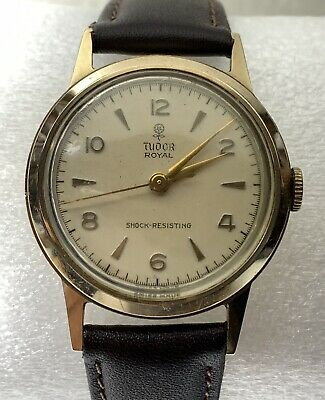 AU1200 • Buy 1960's TUDOR ROYAL ROLEX 9ct 375 9k Solid Gold Classic Men's Vintage Watch