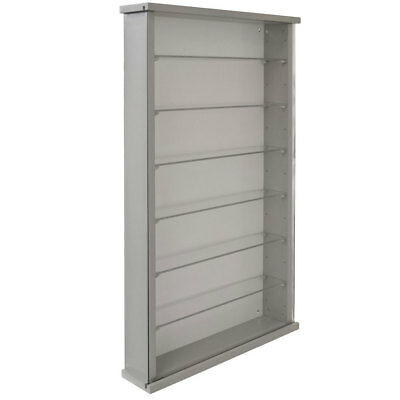 £92.99 • Buy Wall Display Cabinet Grey Solid Wood 6 Glass Shelves 3304OC