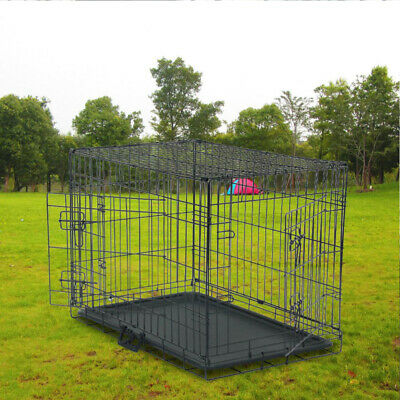 £22.89 • Buy Dog Cage Puppy Crates Small Medium 50cm Pet Carrier Training Cages House