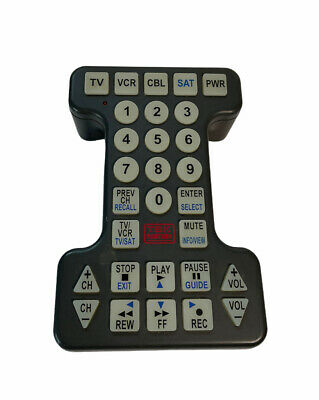 £15.57 • Buy Universal Remote Control TEK PARTNER GIANT BUTTONS *WORKS* Cleaned Large Size