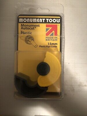 Monument Autocut Plastic Pipe Cutter 15mm Tube Slice Cutting Tool • 6£