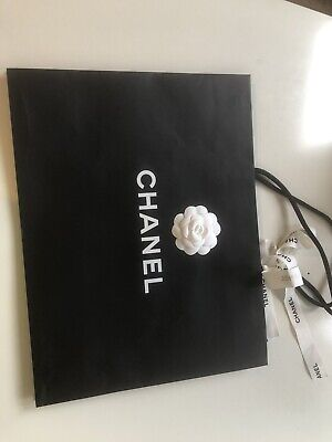 £9.99 • Buy 100% Authentic Chanel Paper Bag Size M. (43*33*16cm) With Ribbon