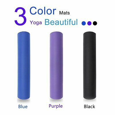 AU12.49 • Buy Durable Yoga Mat Pad NBR Nonslip Exercise Fitness Gym Pilate 10MM Thick