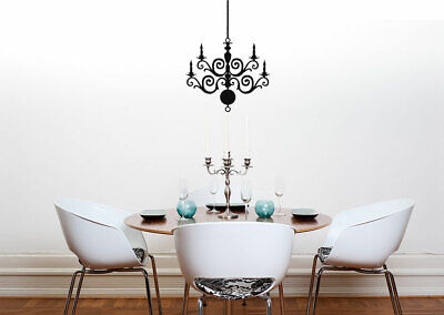 £18.99 • Buy Chandelier Wall Sticker Dining Room Bedroom Lounge Elegant House Warming Decal