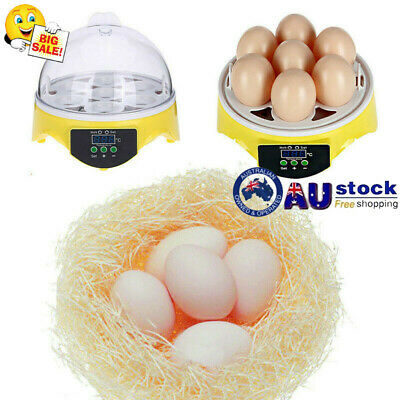 AU38.29 • Buy Egg Incubator Digital Led Fully Automatic Hatch Chicken Duck Eggs Poultry 7 Eggs
