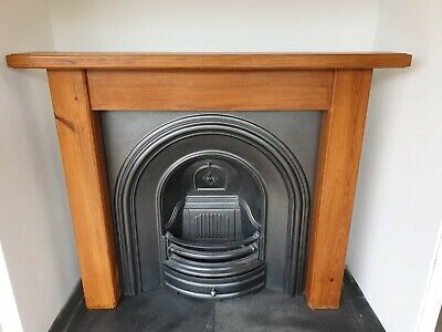 £445 • Buy 4 Cast Iron Fireplace Surround Fire Old Arch Insert Antique Victorian Style