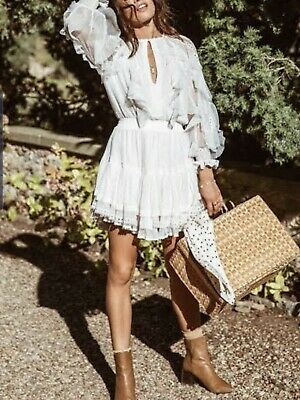 AU21.50 • Buy Spell And The Gypsy Collective Grace Tulle White Dress Size S BNWT