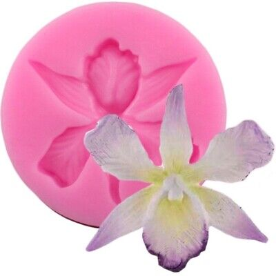 Orchid Flower Mould Sugarcraft Fondant Icing Cake Decorating Silicone UK • 3.99£