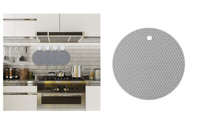£3.99 • Buy Trivet Silicone Round Mat Heat Proof Resistant Non Slip Pad Holders Pad