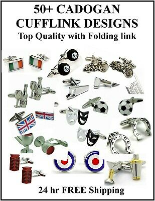 £1.99 • Buy All Type Silver Branded Folding Quality Cufflinks Classic Novelty Wedding Office