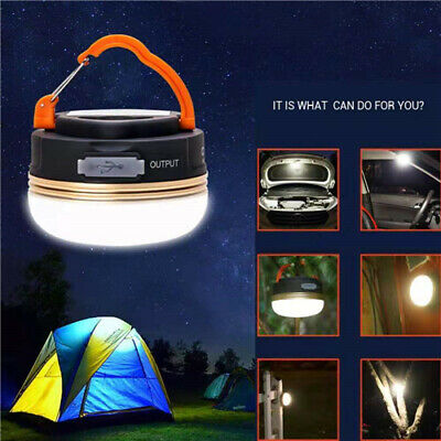 £11.79 • Buy Rechargeable LED Camping Light Tent Portable Lantern Night Lamp Phone Charger