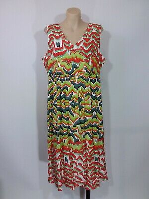AU22.95 • Buy Yarra Trail Size 14 Multicoloured Sleeveless Midi Dress Modal/Cotton