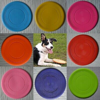 £4.99 • Buy Dog Frisbee Silicone Soft Rubber Bendy Colourful Frissbee Disc Throw Fetch Toy