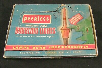 $ CDN191.07 • Buy 7 Vintage Bubble Bubbling Christmas Lights In Peerless Box