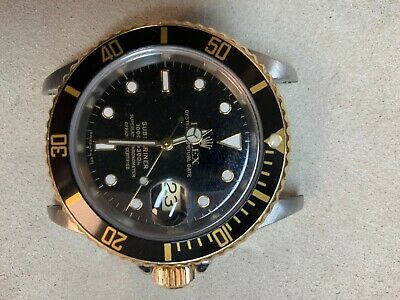 $ CDN10822.34 • Buy Rolex Submariner Steel Yellow Gold Automatic Mens Watch 16613 Selling As-Is